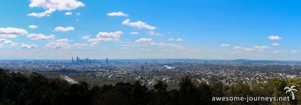 Brisbane vom Mt Coot-tha Lookout