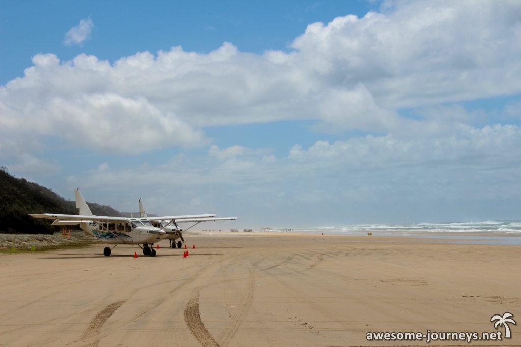 Mit dem Flugzeug über Fraser Island