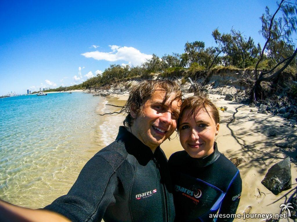 Tauchen bei Wavebreaker Island