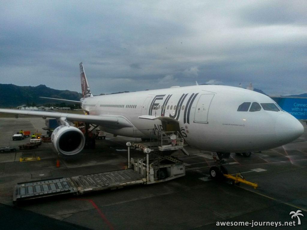 Unser Flieger von Fiji Airways