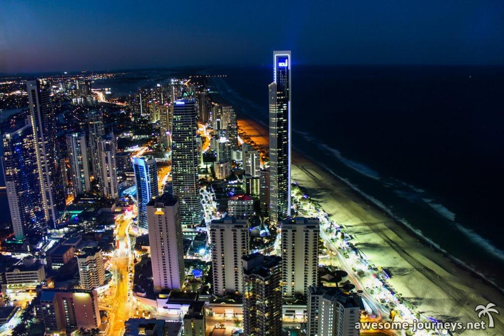 Gold Coast bei Nacht