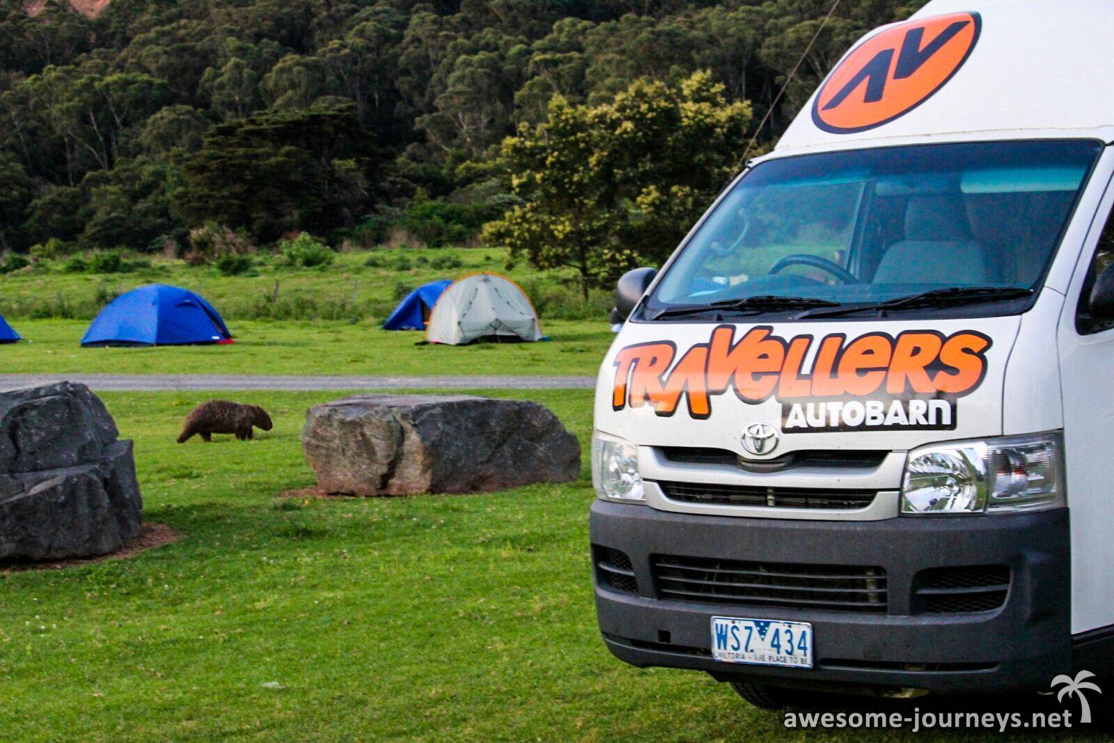 "Unser Campingplatz im ""Wombatland"""