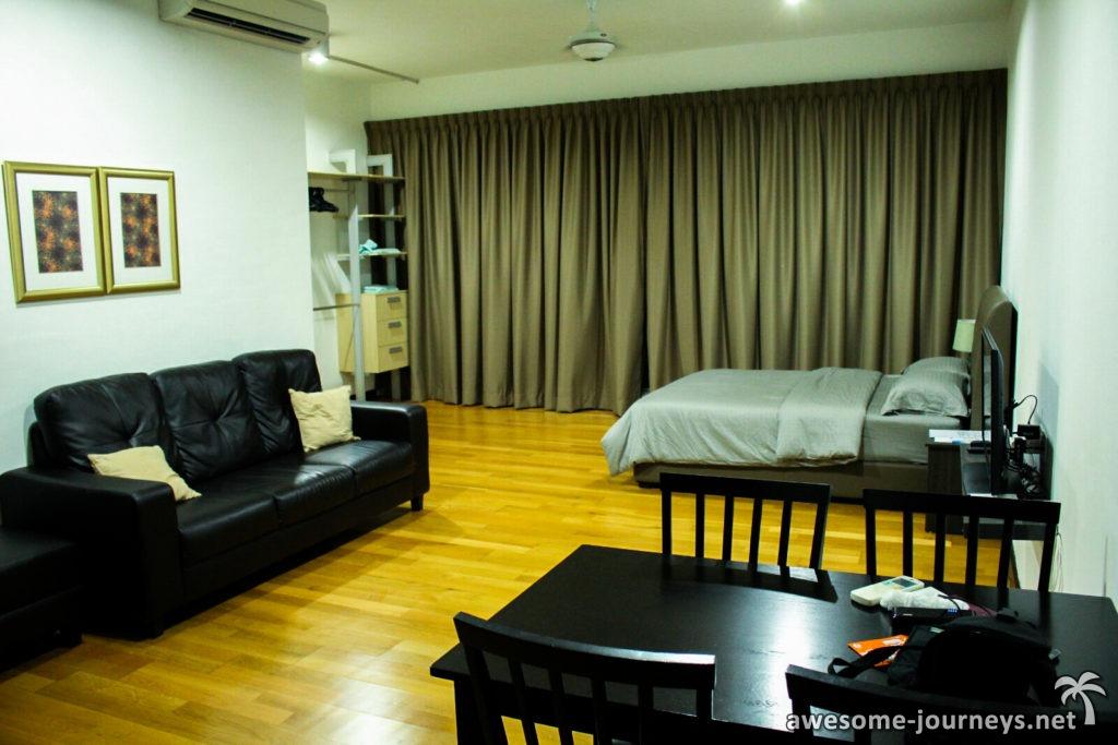 Unsere Unterkunft in Kuala Lumpur