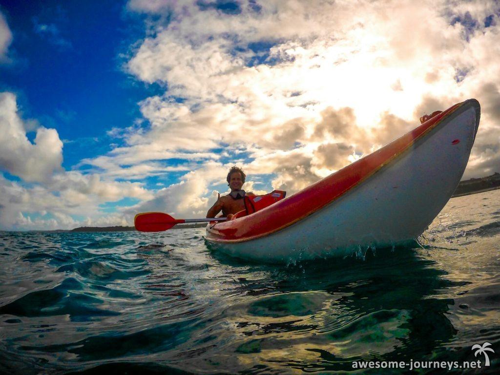 Kayaking in Blue Bay