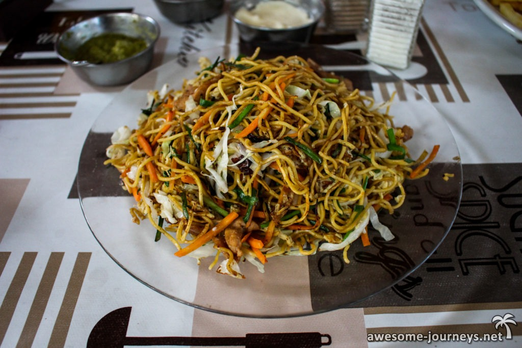 Abendessen Fried Noodles
