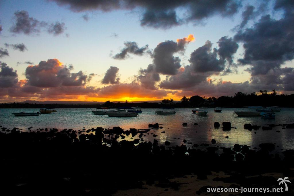Sonnenuntergang Blue Bay
