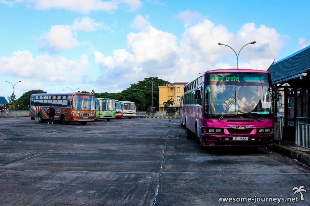 Busbahnhof in Mahebourg