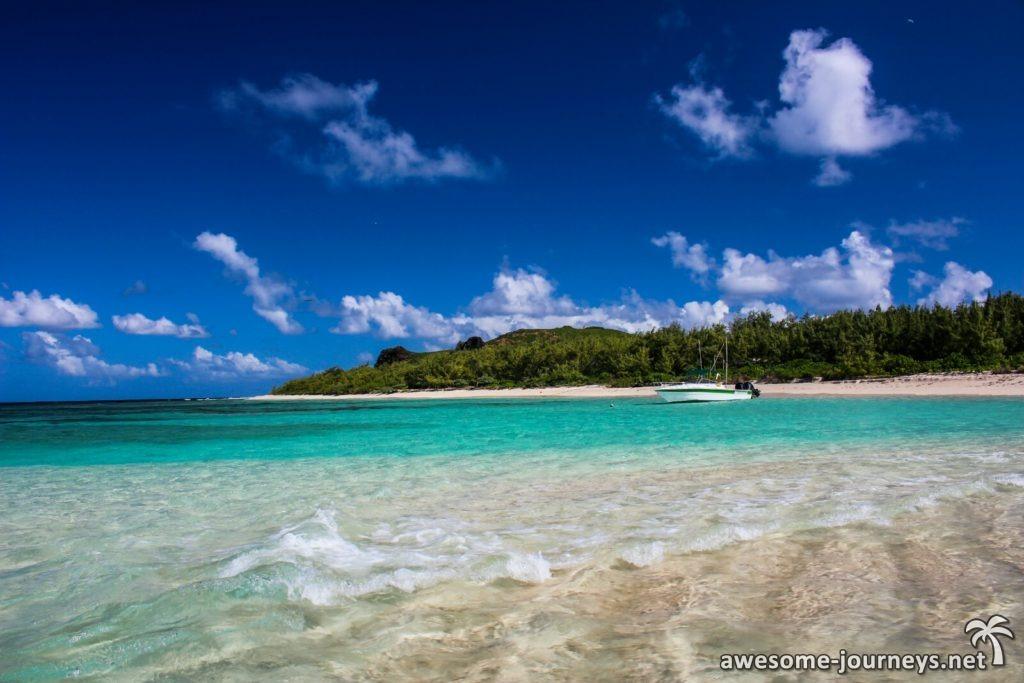 Überfahrt nach Flat Island