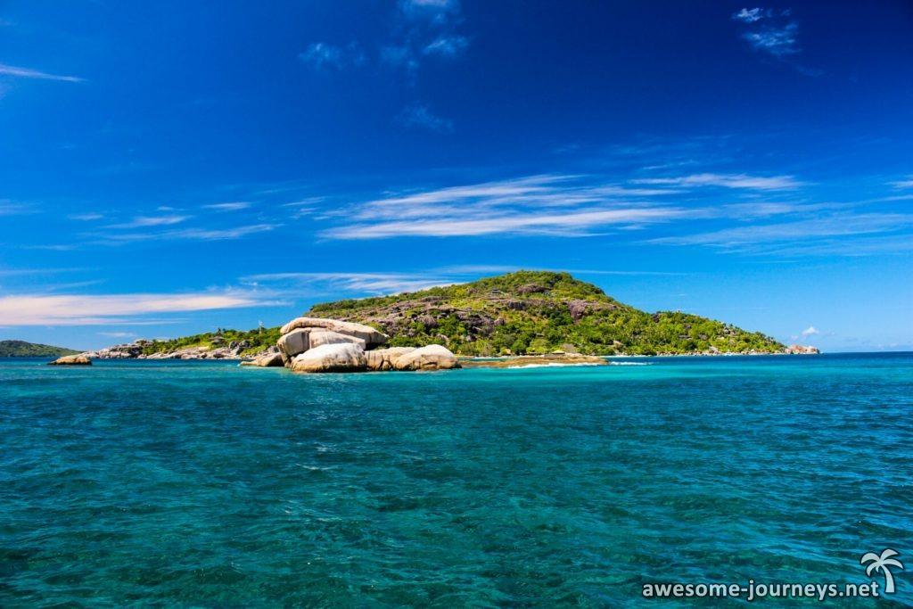 Blick auf Felicite Island