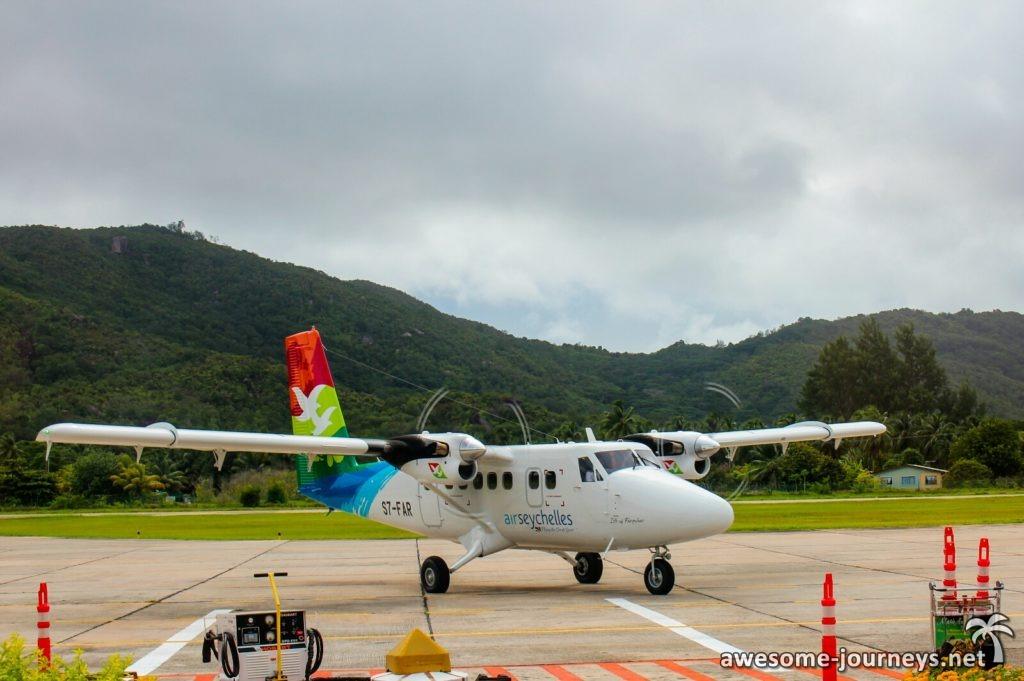 Propellerflugzeug von Air Seychelles