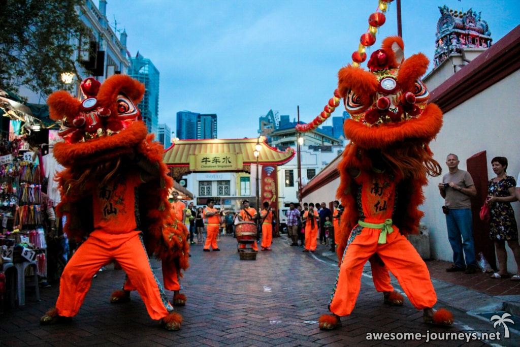 Drachenshow in Chinatown