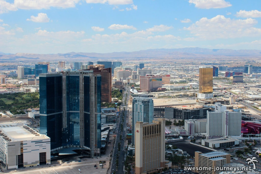 Blick über Las Vegas vom Stratosphere Tower