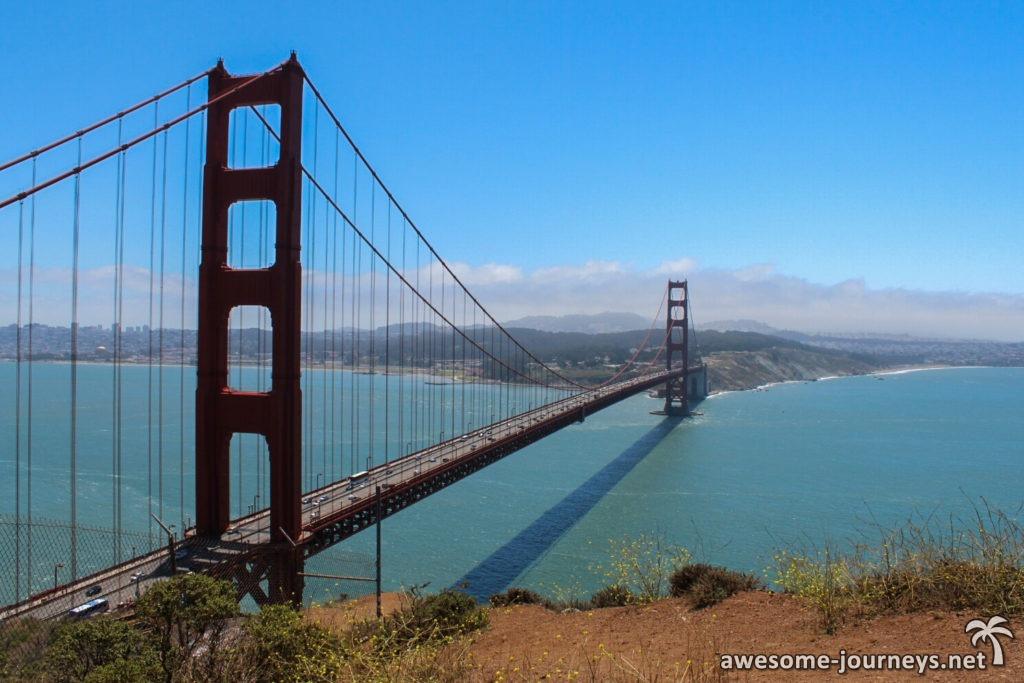 Golden Gate Bridge vor San Francisco